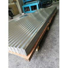 """Deep Corrugated Sheets - Stainless Steel-Aluminum 1 1/4"""" and 2 1/2"""" Corrugations-0.016"""" x 33"""" x 120""""-SM"""